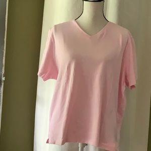 Karen Scott V neck tunic 100% cotton